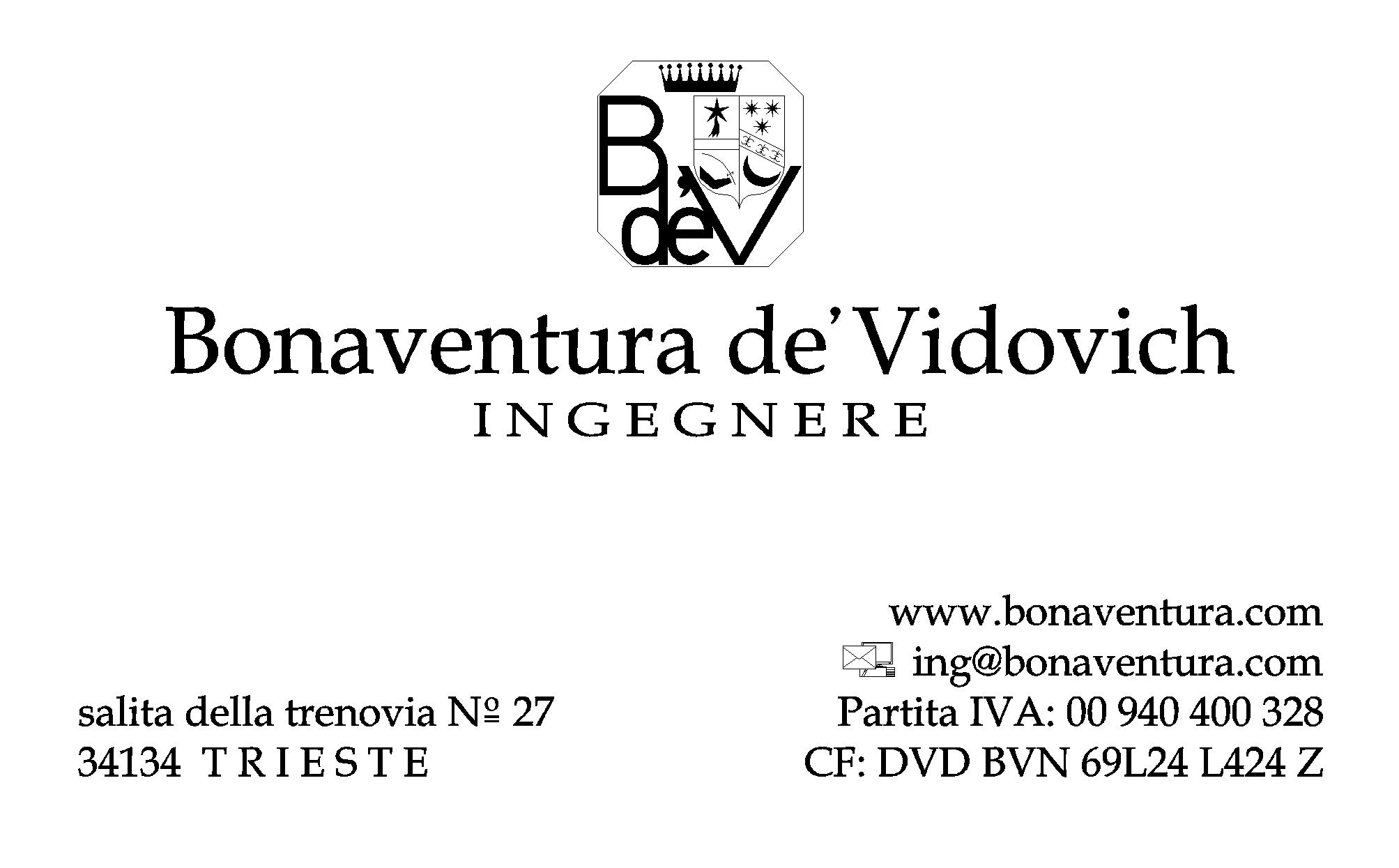Top Bonaventura de'Vidovich - Recapiti BW63
